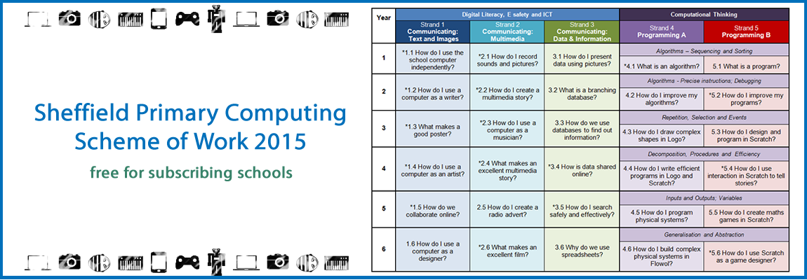 Find out about the revised Sheffield Primary Computing Scheme of Work