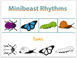 Minibeast Rhythms scratch activity example