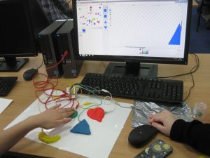 Using a makey makey with Scratch to provide accessible controls