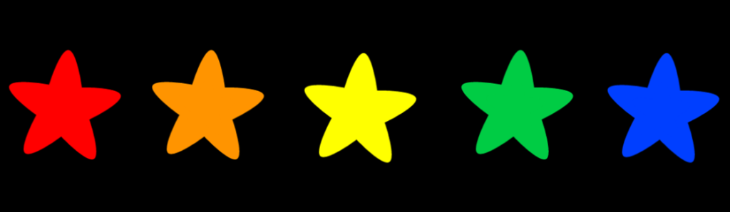 Scratch project example - coluored stars