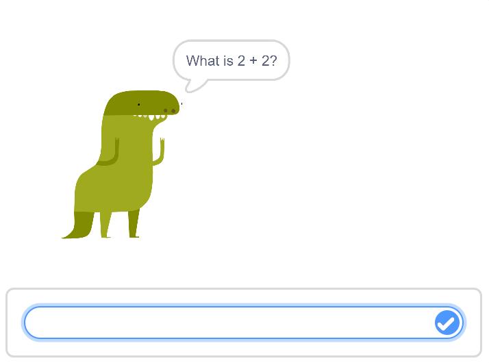 Dinosuar asking a question